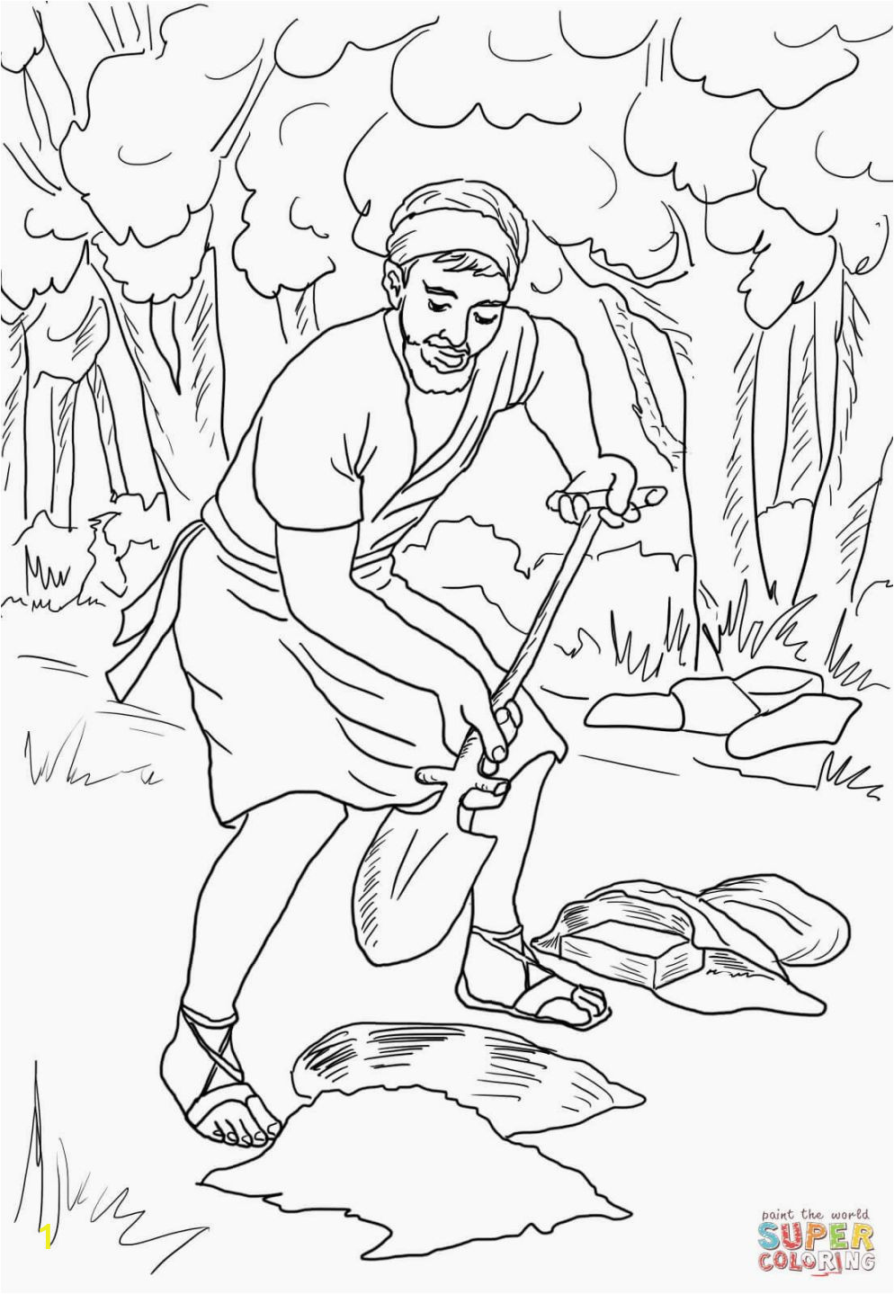 Parable Of the Talents Coloring Page Parable the Talents Coloring Page