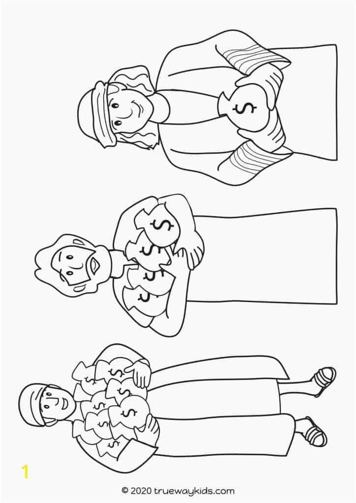 Parable Of the Talents Coloring Page the Parable Of the Talents Trueway Kids