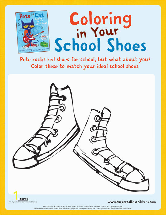 pete the cat rocking in my school shoes coloring