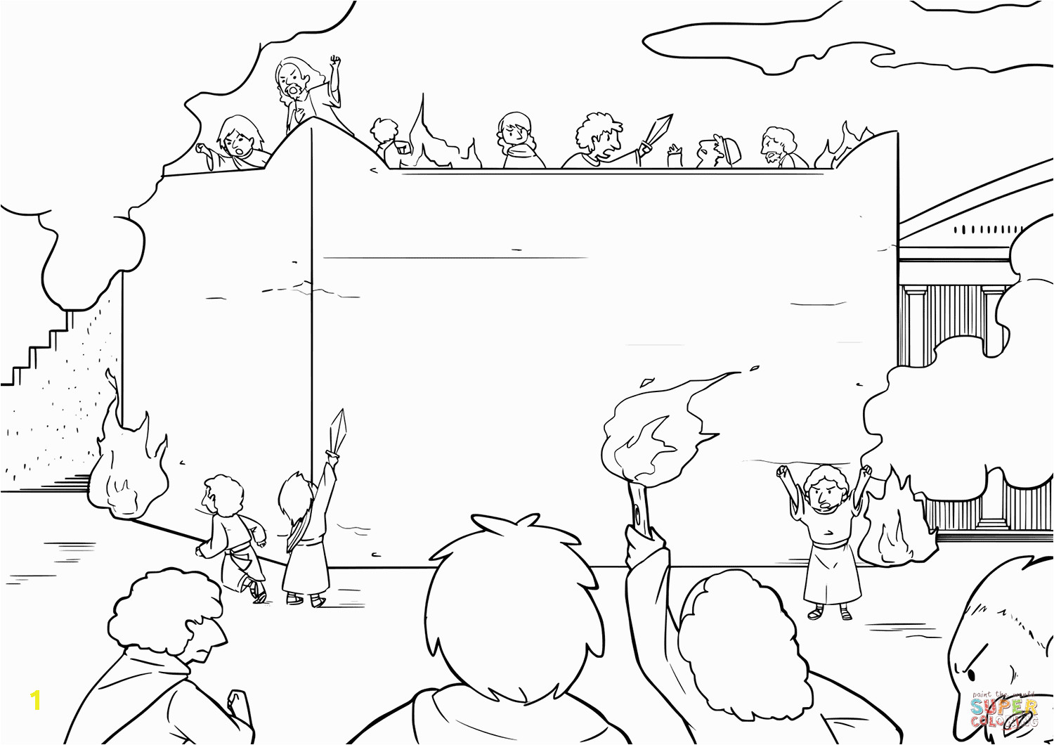 pillar of cloud and fire coloring pages