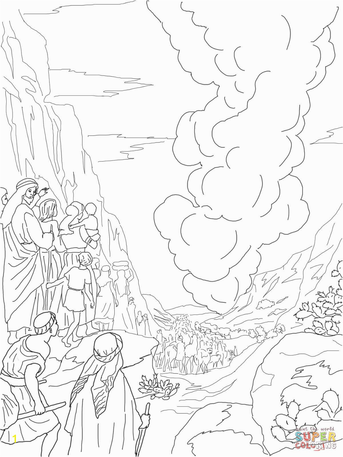 Pillar Of Cloud and Fire Coloring Pages Pillar Of Fire and Cloud Super Coloring