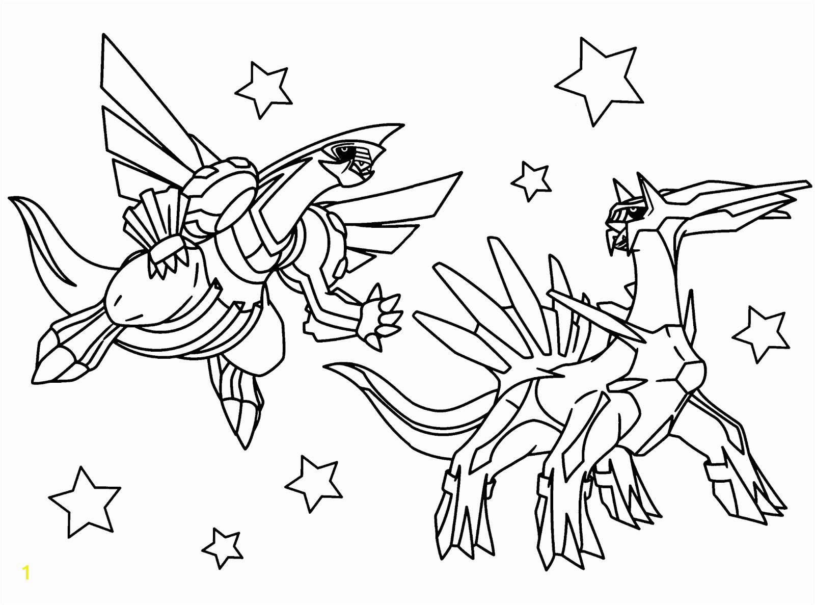 Pokemon Dialga and Palkia Coloring Pages Free Legendary Pokemon Coloring Pages for Kids