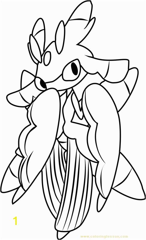 lurantis pokemon sun and moon kids coloring page