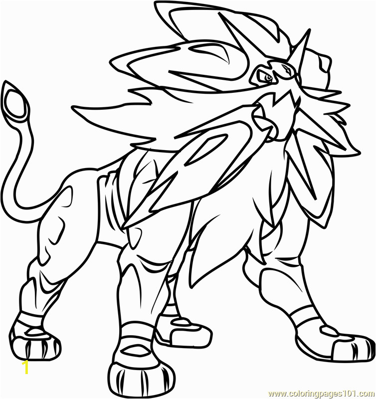 solgaleo pokemon sun and moon coloring page