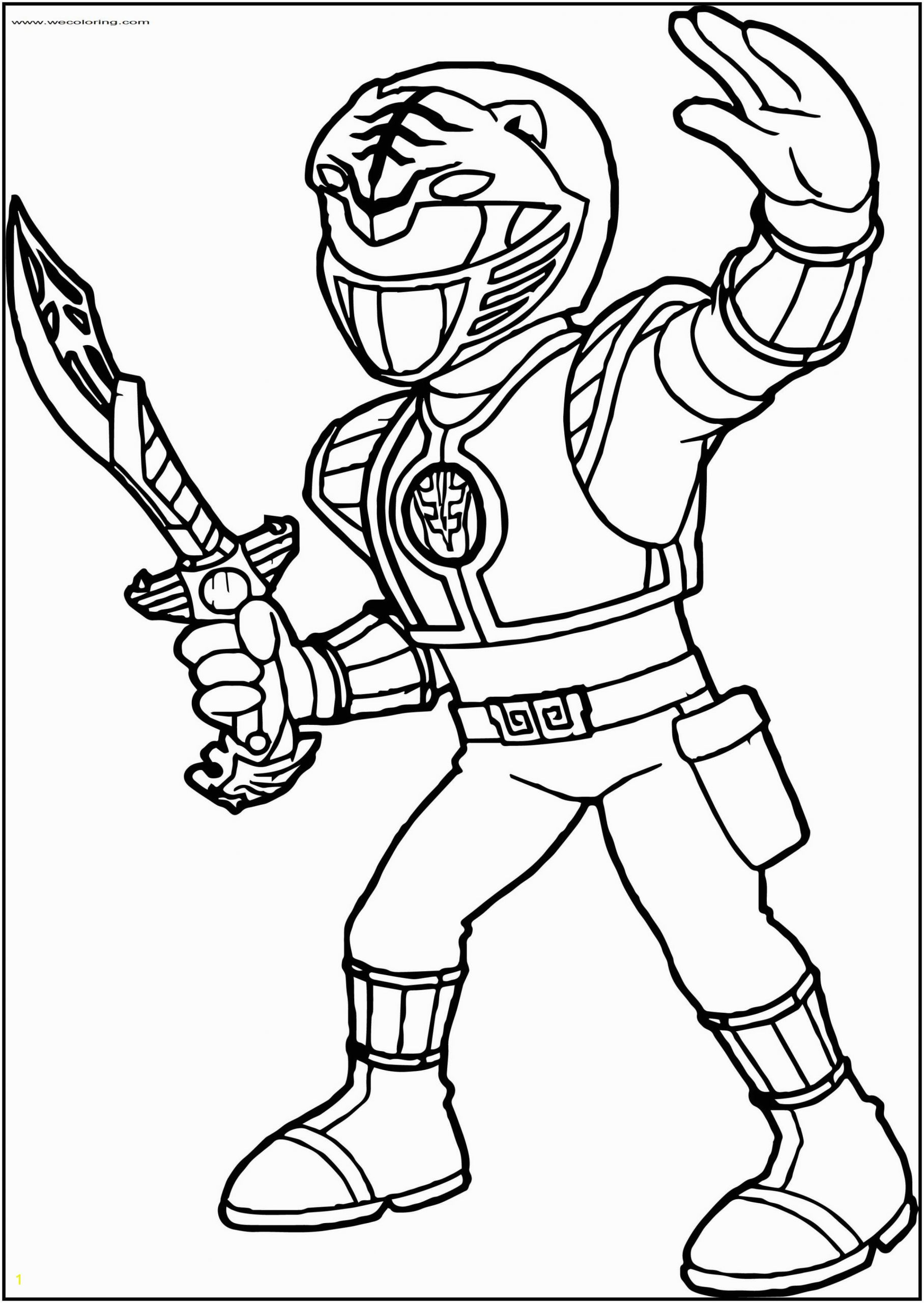 Power Ranger Coloring Pages to Print Power Rangers White Ranger Free Printable Coloring Page