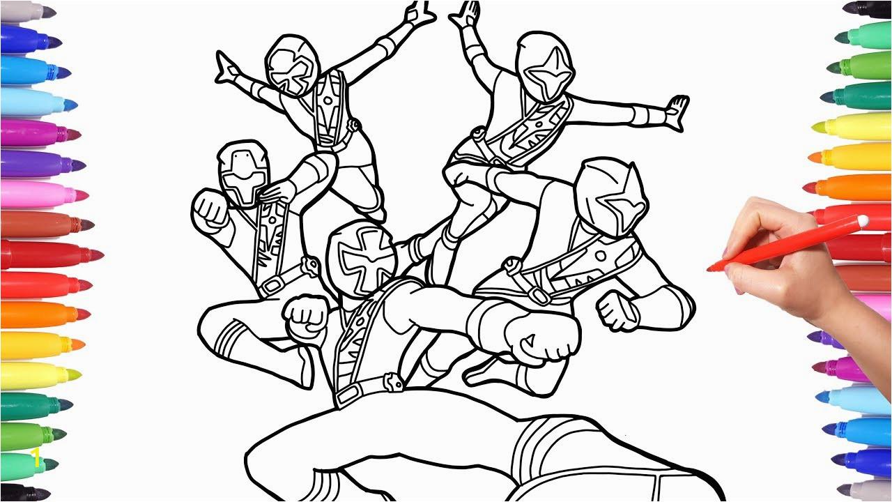 power rangers ninja steel colouring pictures