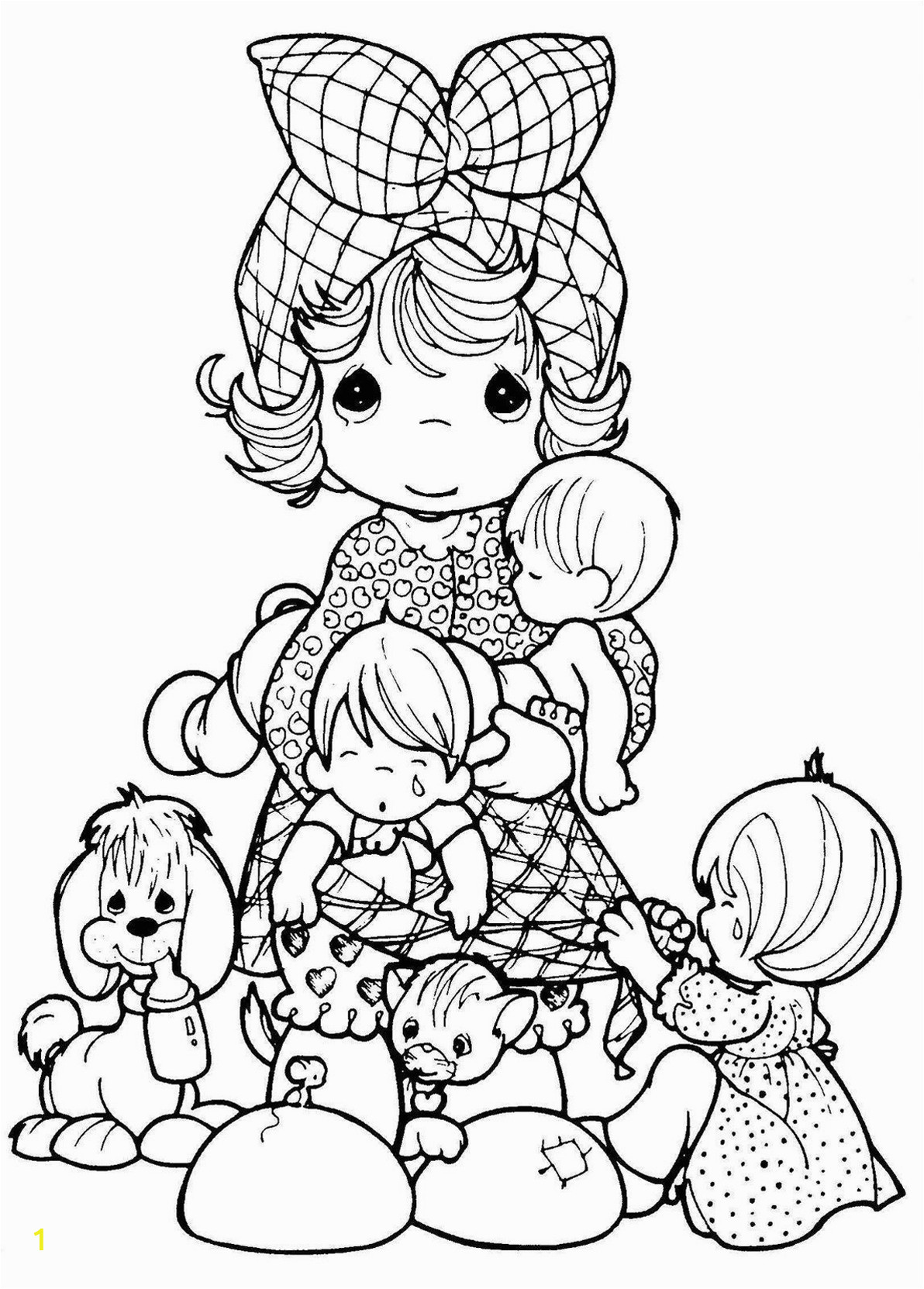 Precious Moments Coloring Pages for Adults Precious Moments Vintage Adult Coloring Pages