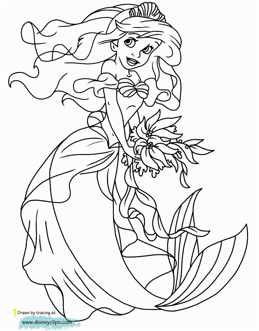 ariel printable coloring pages that are decisive
