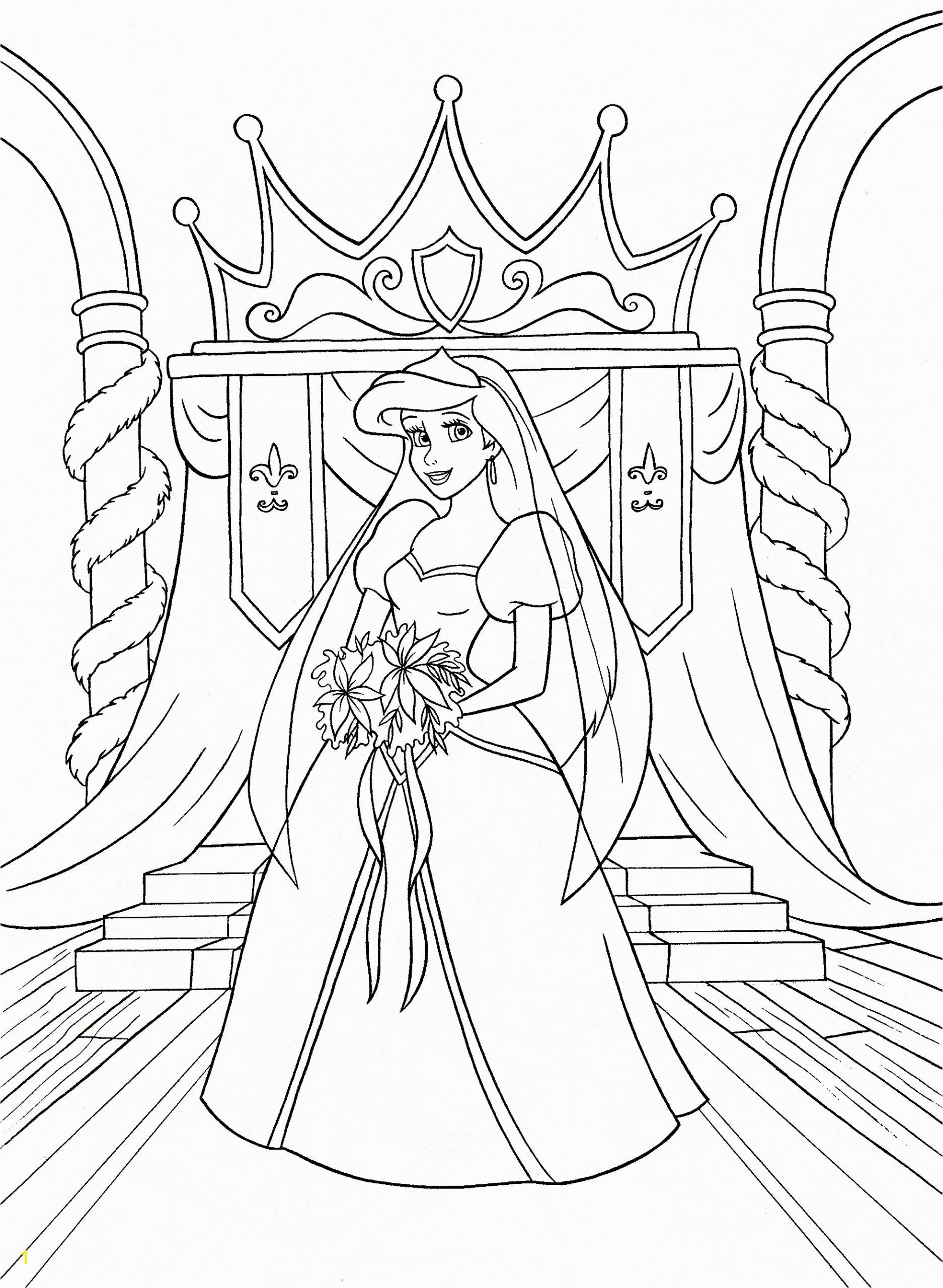 walt disney coloring pages princess ariel photo