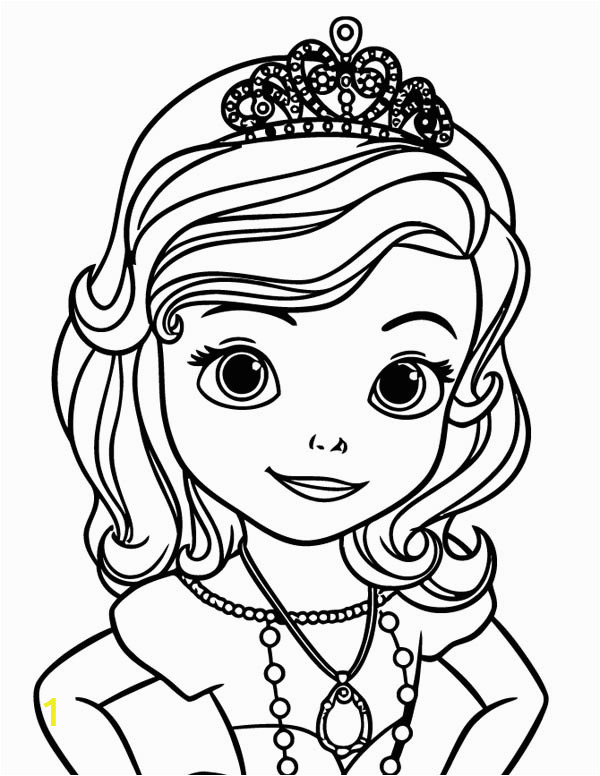 princess sofia the first picture coloring page