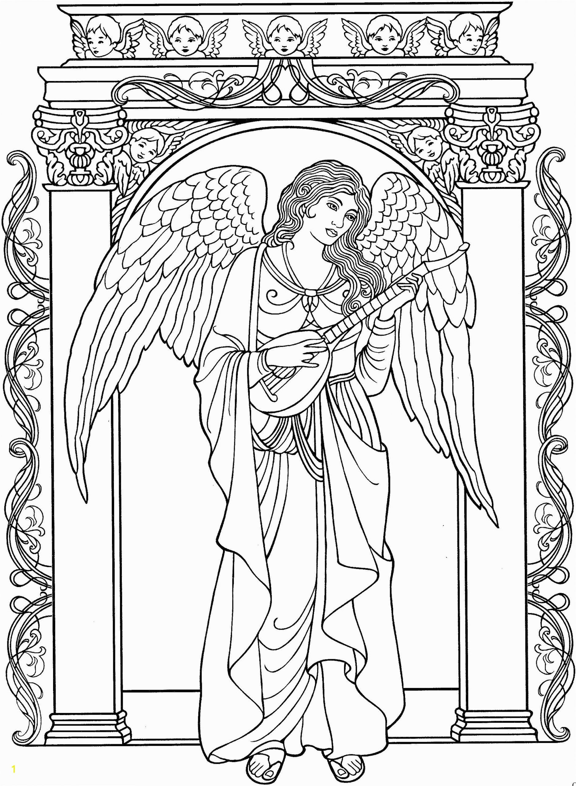 angel adult coloring pages