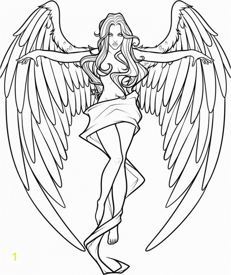 free printable angel coloring pages for adults 5gas43