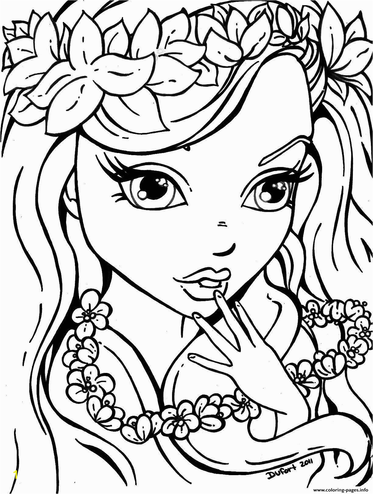cute girls for teens printable coloring pages book