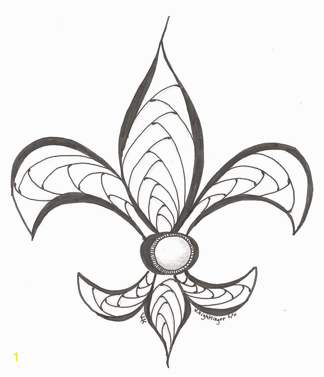 fleur de lis drawing
