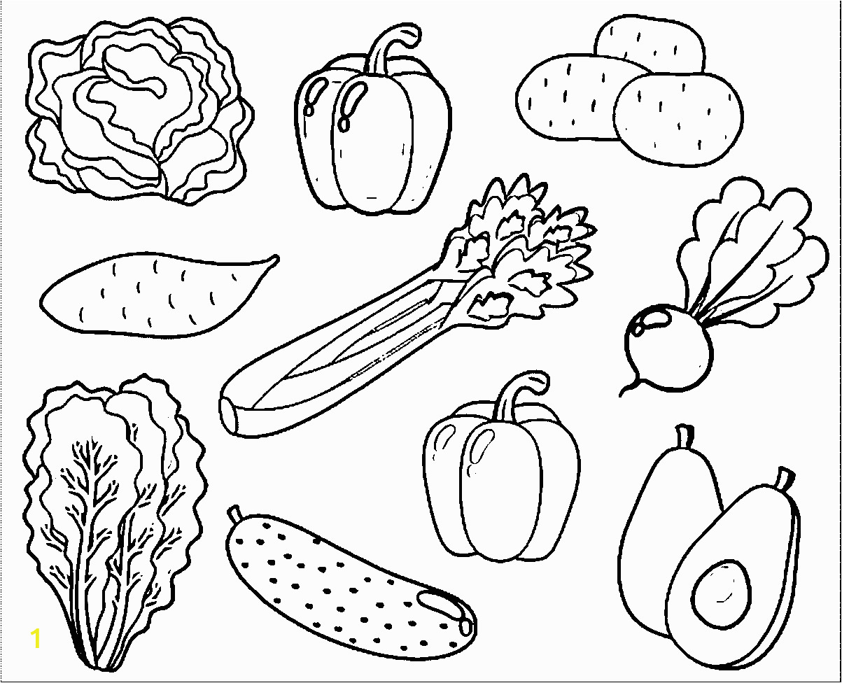 Printable Fruits and Vegetables Coloring Pages Free Coloring Pages Of Ve Able Gardens