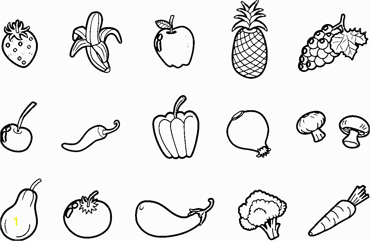 fruits and ve ables coloring pages sketch templates