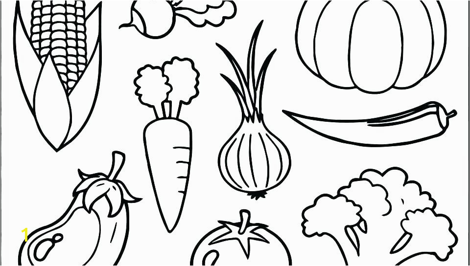 printable fruits and ve ables coloring pages