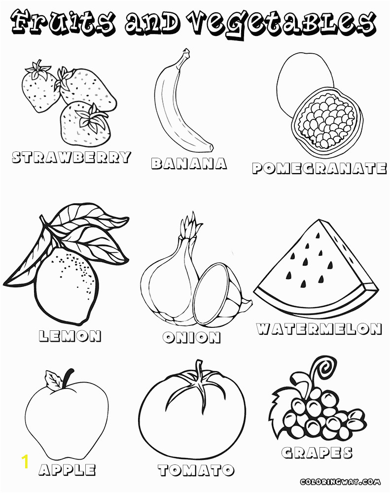 ve ables and fruits coloring pages