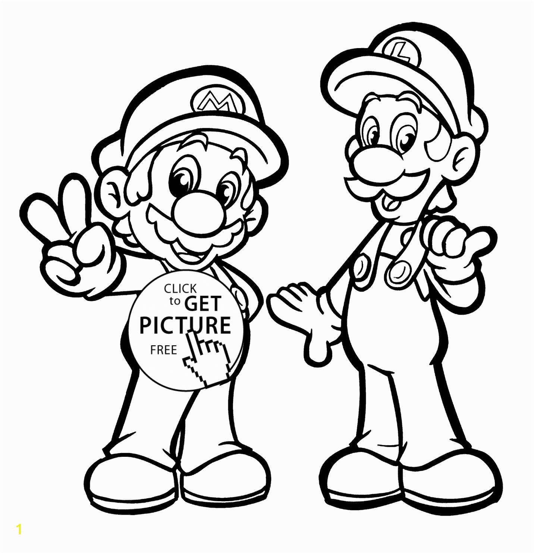 Printable Mario and Luigi Coloring Pages Mario and Luigi Coloring Pages for Kids Printable Free