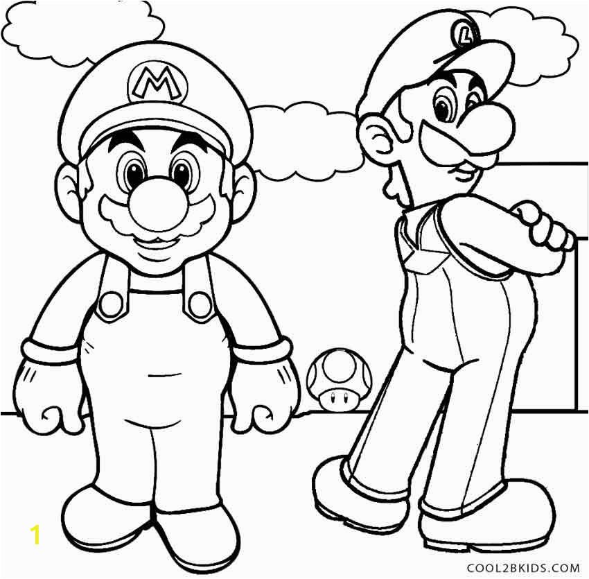 luigi coloring pages