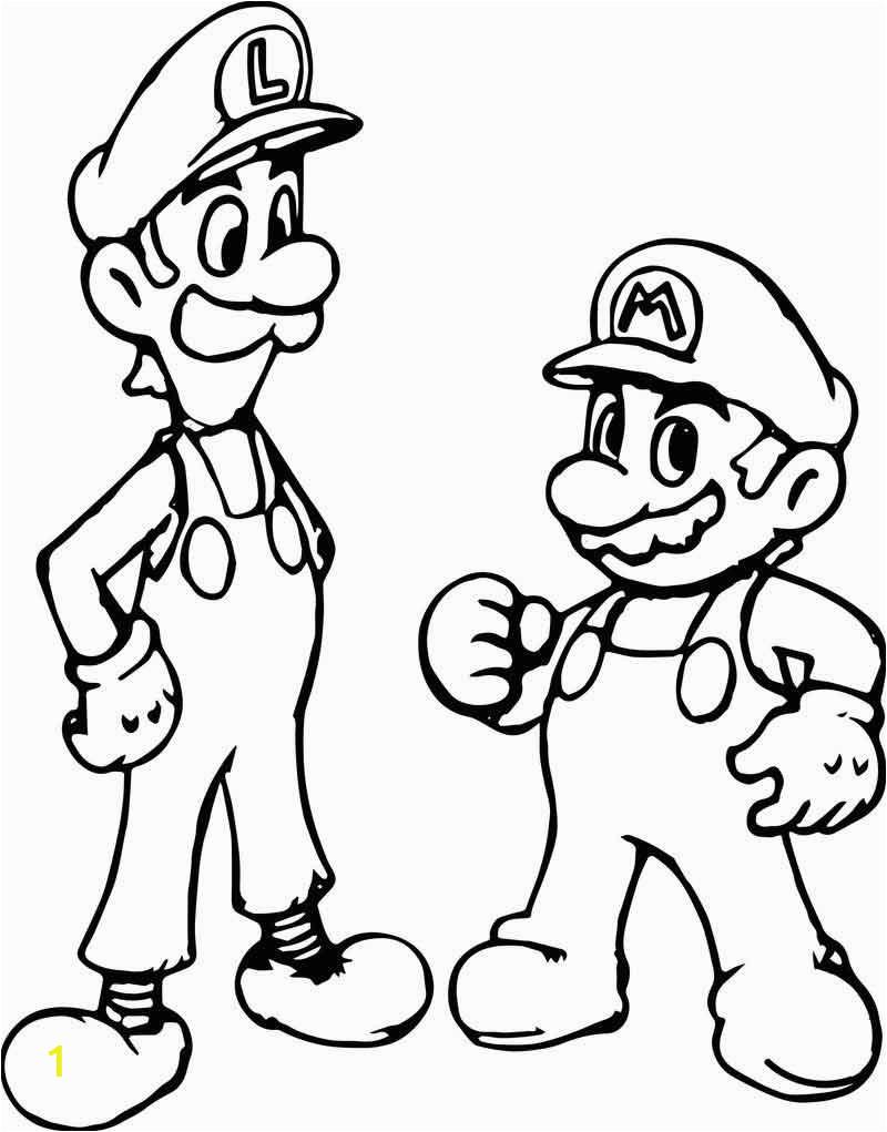 super mario and luigi coloring page 2