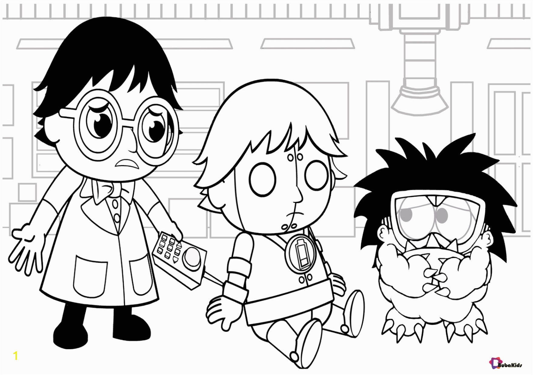 Printable Ryan S World Coloring Pages Ryan S World Cartoon Coloring Pages Bubakids
