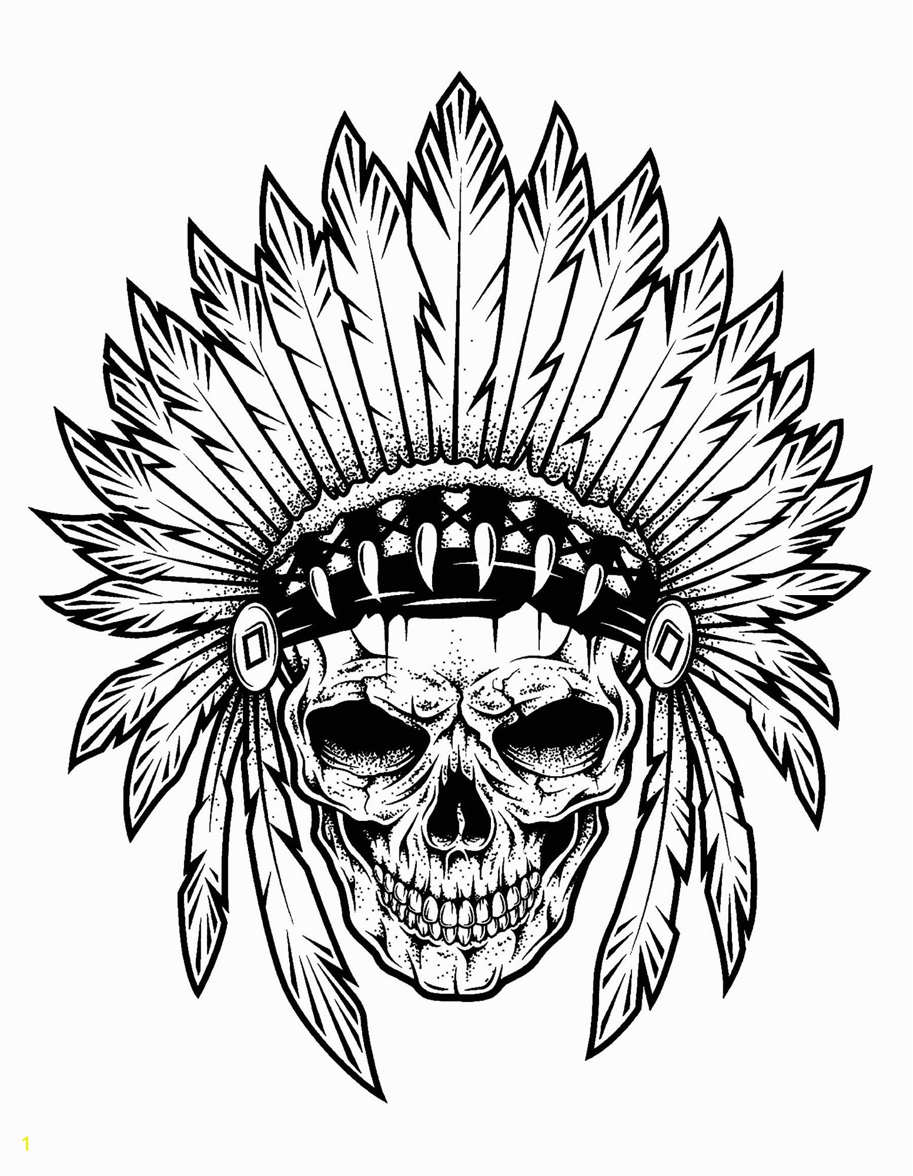 image=tatoo coloring tattoo indian chief skull 1