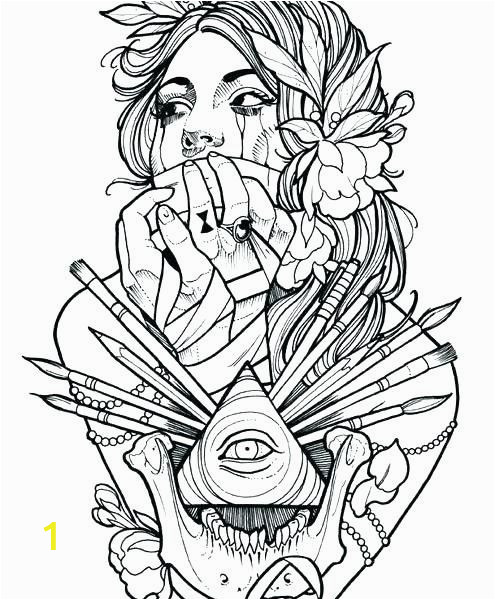 tattoos coloring pages