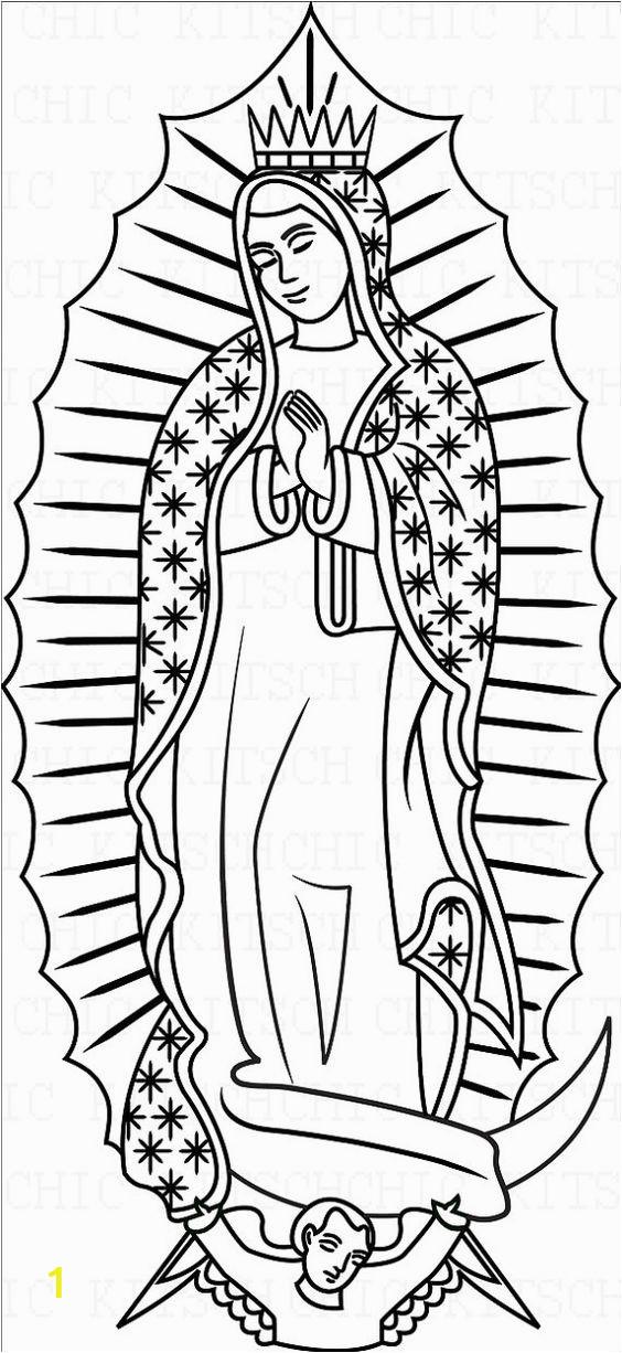 la virgen de guadalupe coloring pages