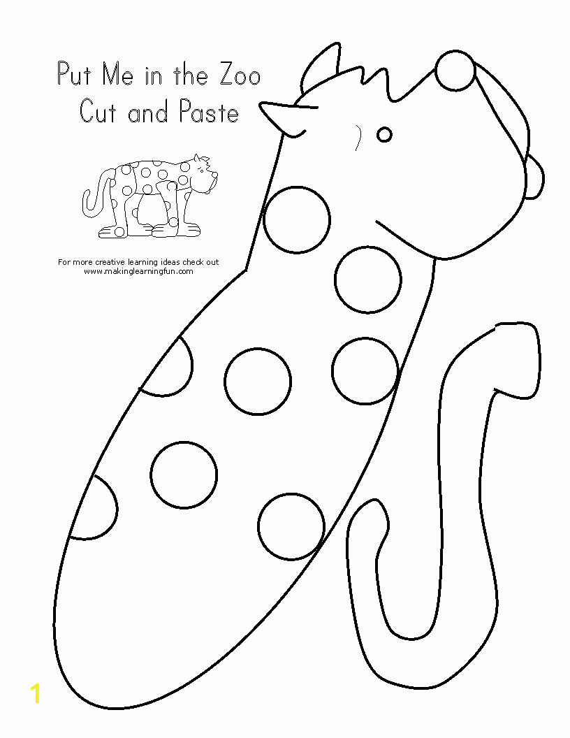 put me in the zoo coloring page
