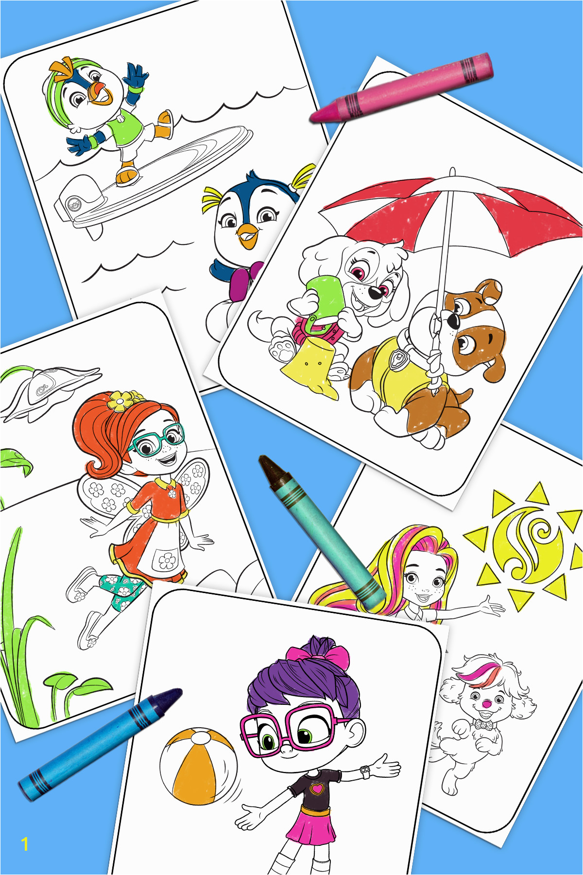 all new summer coloring pack