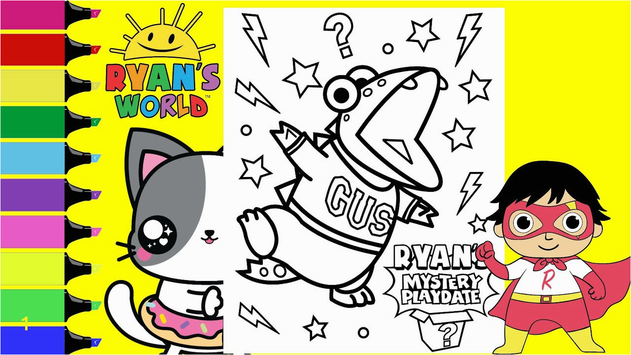 Ryan S Mystery Playdate Coloring Pages Coloring Ryan S Mystery Playdate Gus Ryan S World Coloring