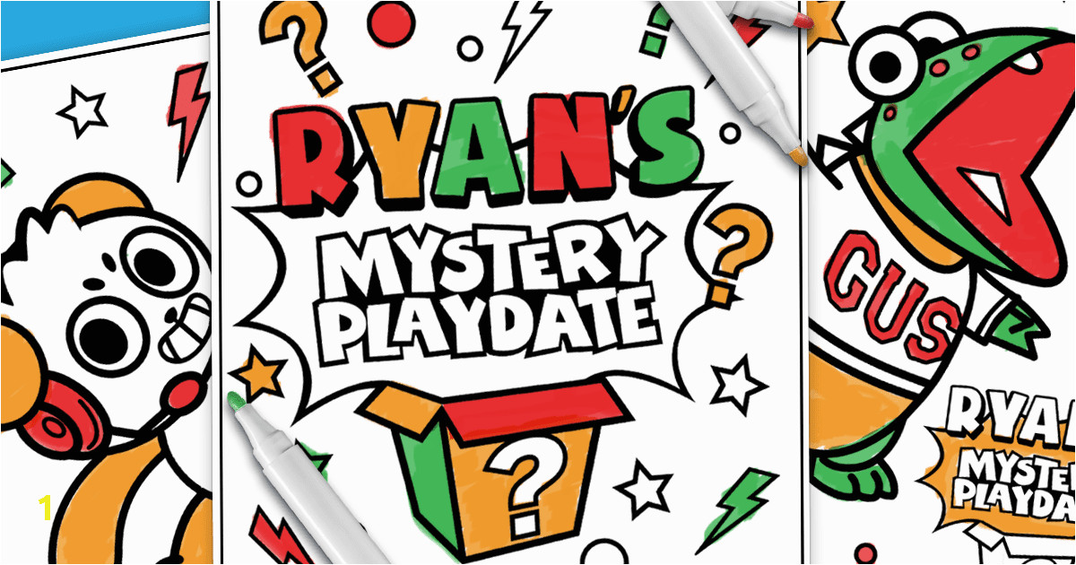 popular ryan toys coloring pages image