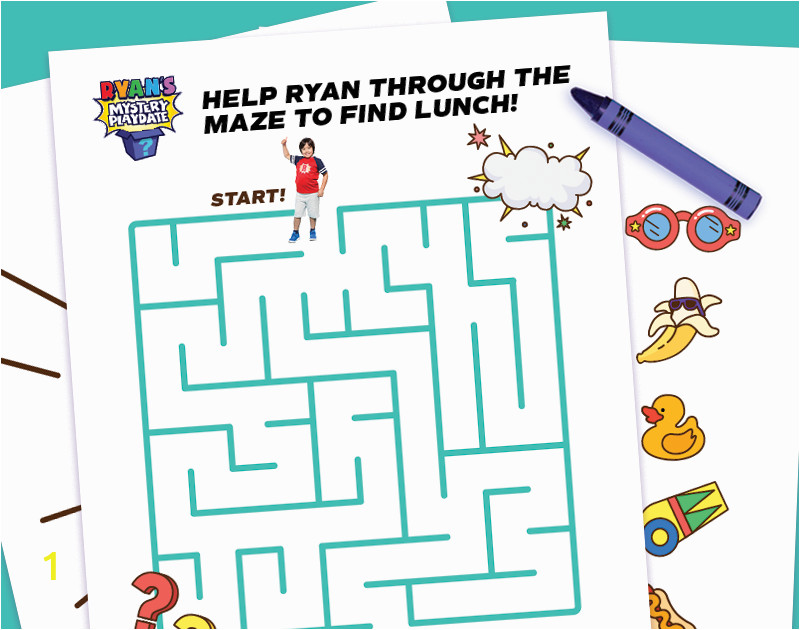 ryans mystery coloring pages ryan s