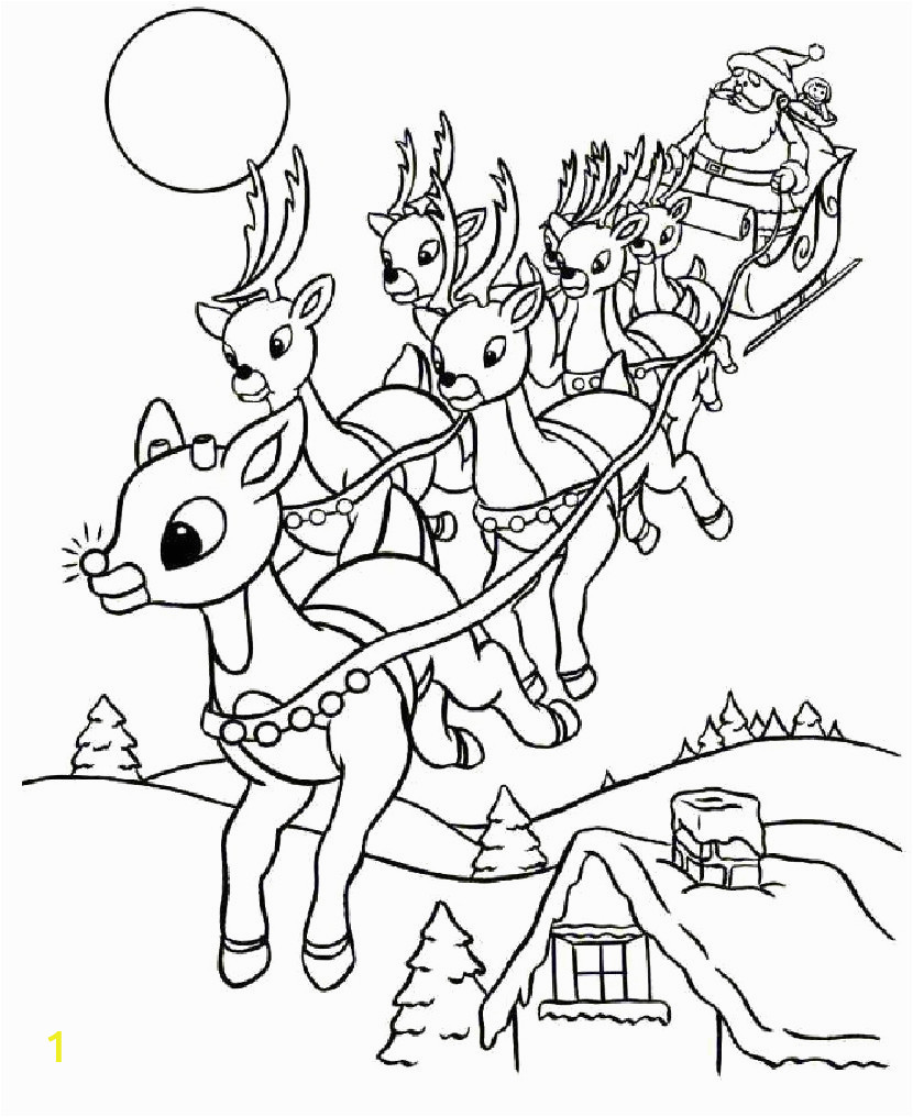 santa sleigh coloring pages printable