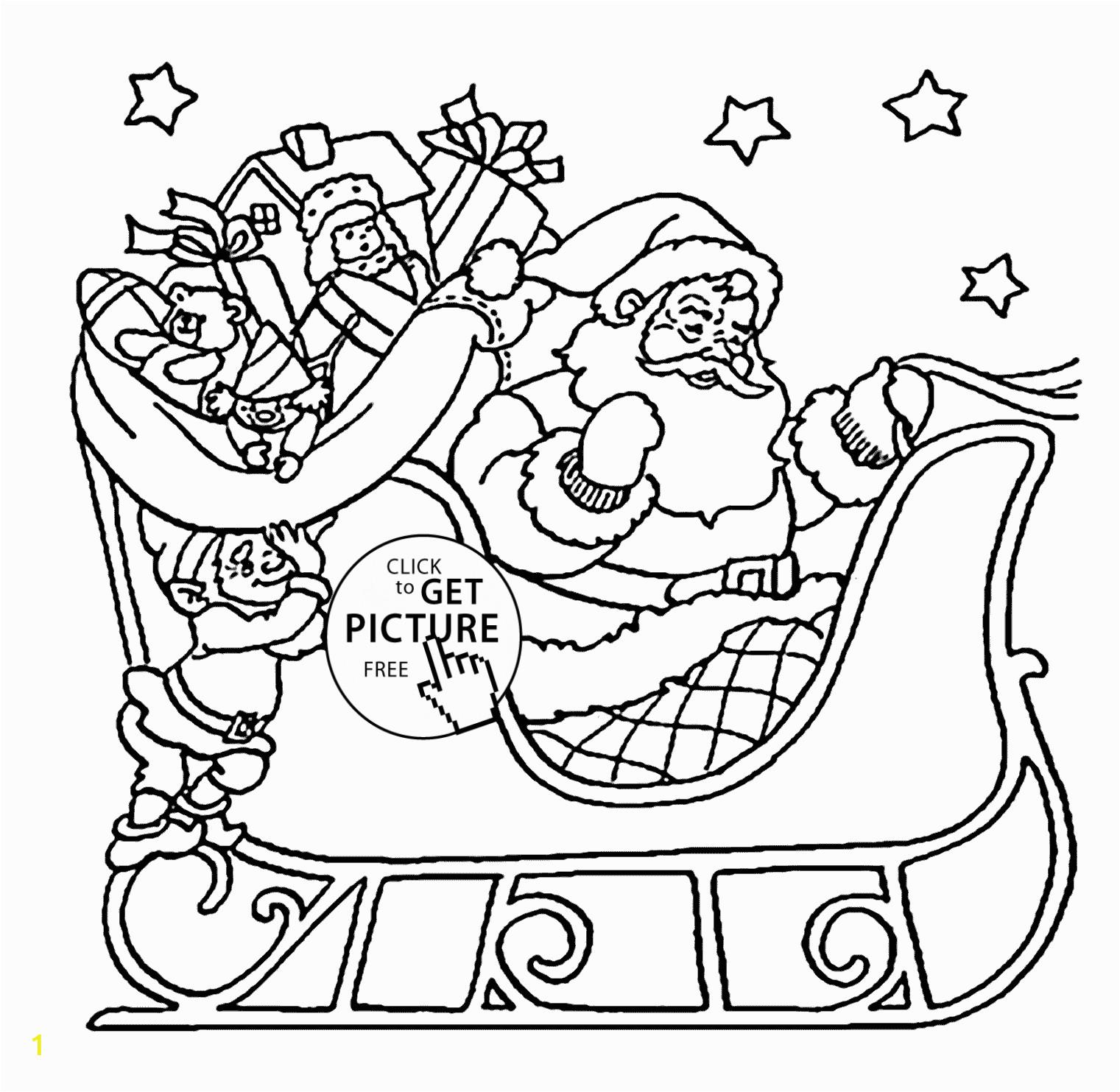 santa and sleigh drawing