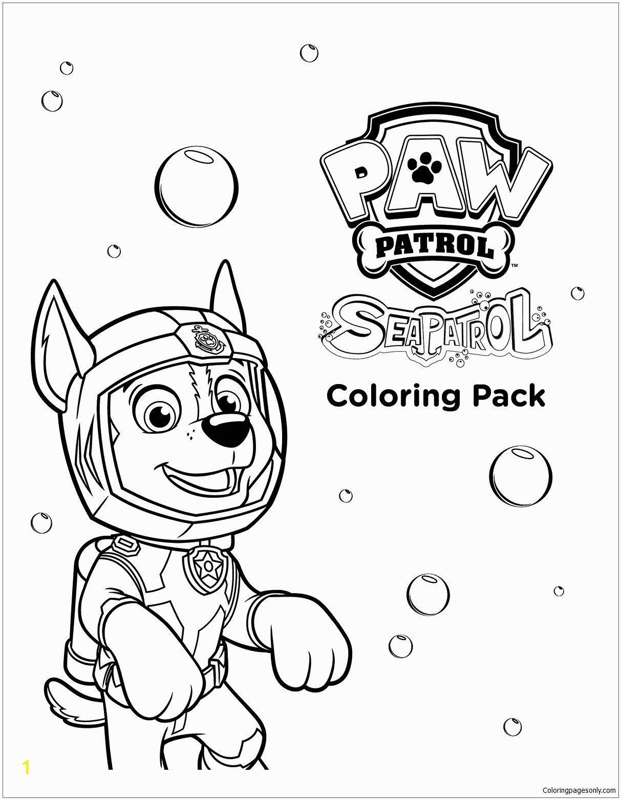 Sea Patrol Paw Patrol Coloring Pages Sea Paw Patrol Coloring Page