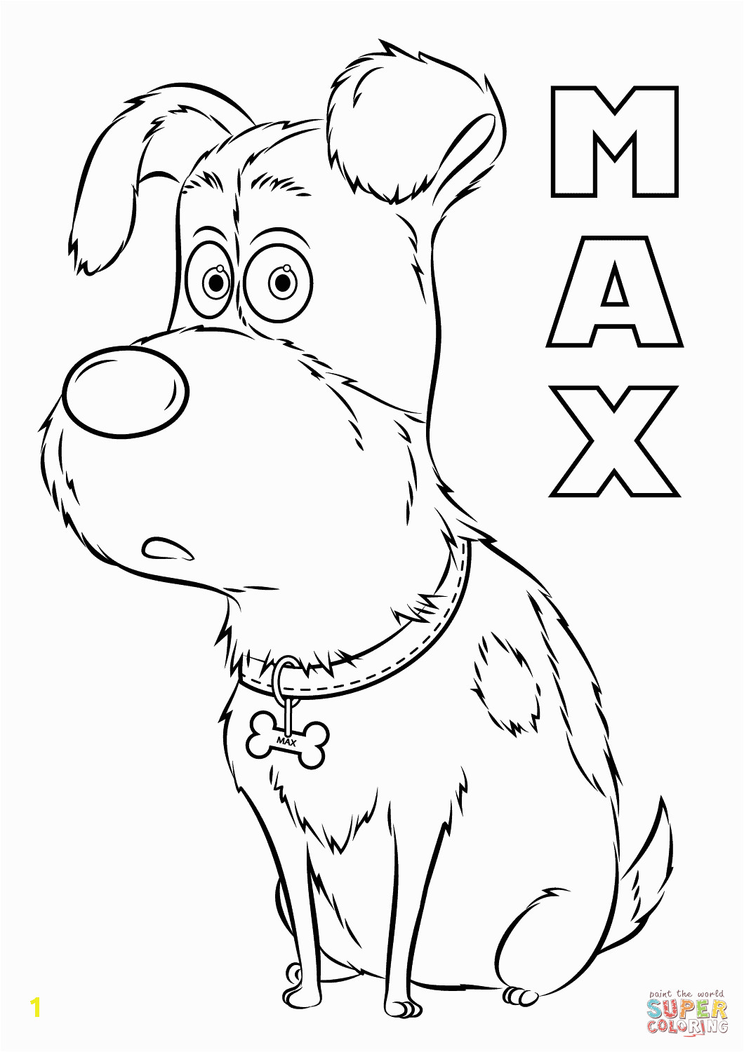 Secret Life Of Pets Printable Coloring Pages Max From the Secret Life Of Pets Coloring Page