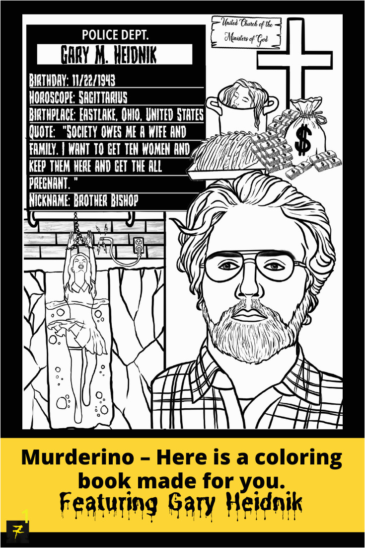 serial killer coloring pages