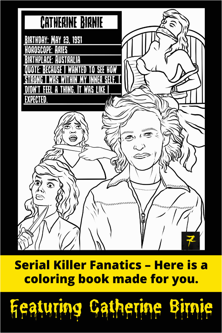 Serial Killer Coloring Book Pages Printable Serial Killers Big Kid Coloring Book Pages Pin On Serial