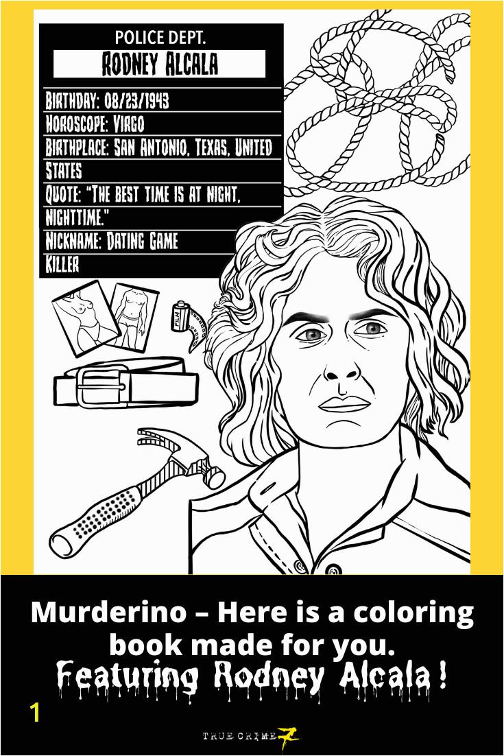 serial killers big kid coloring book