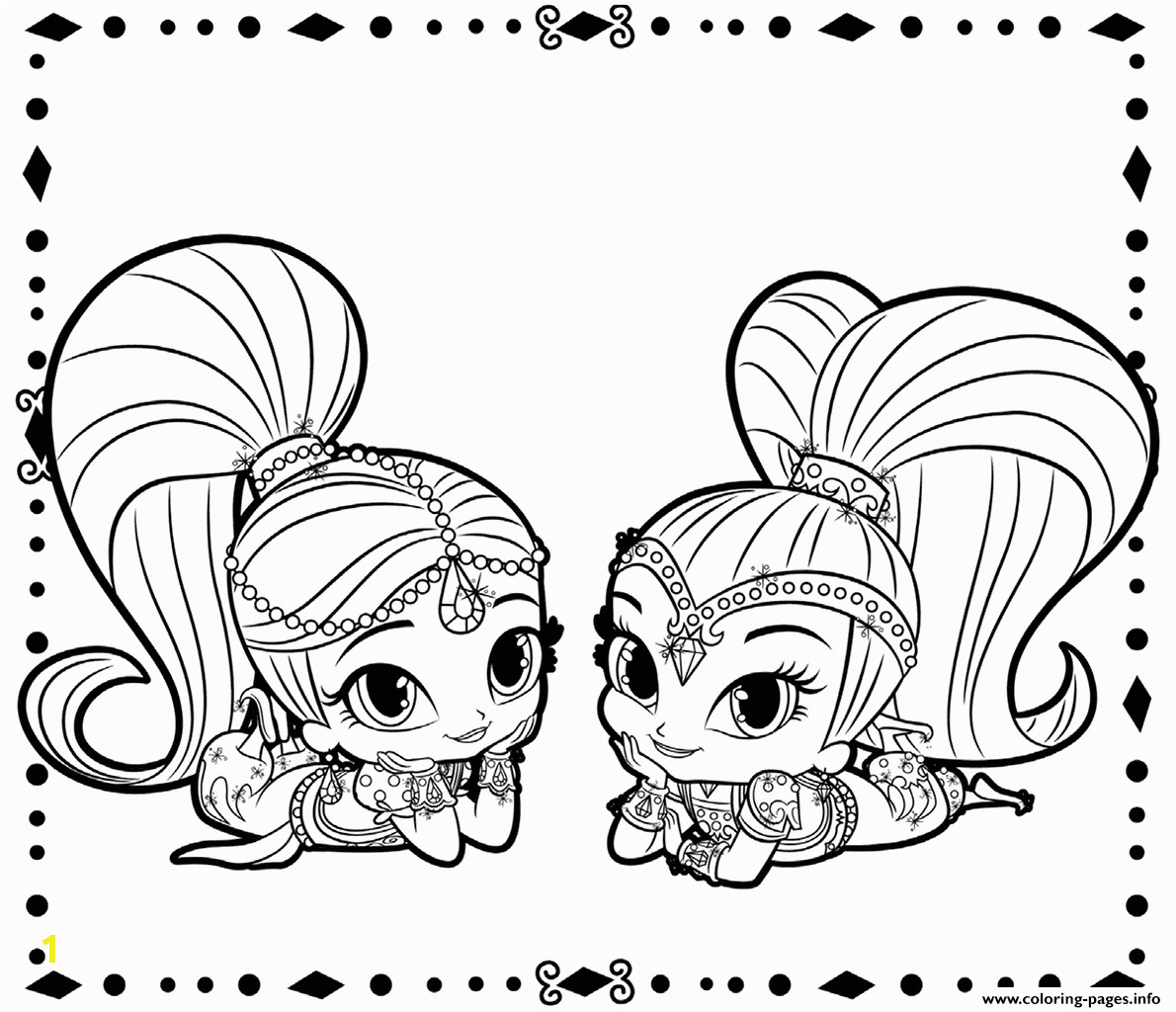 shimmer and shine printable coloring pages book