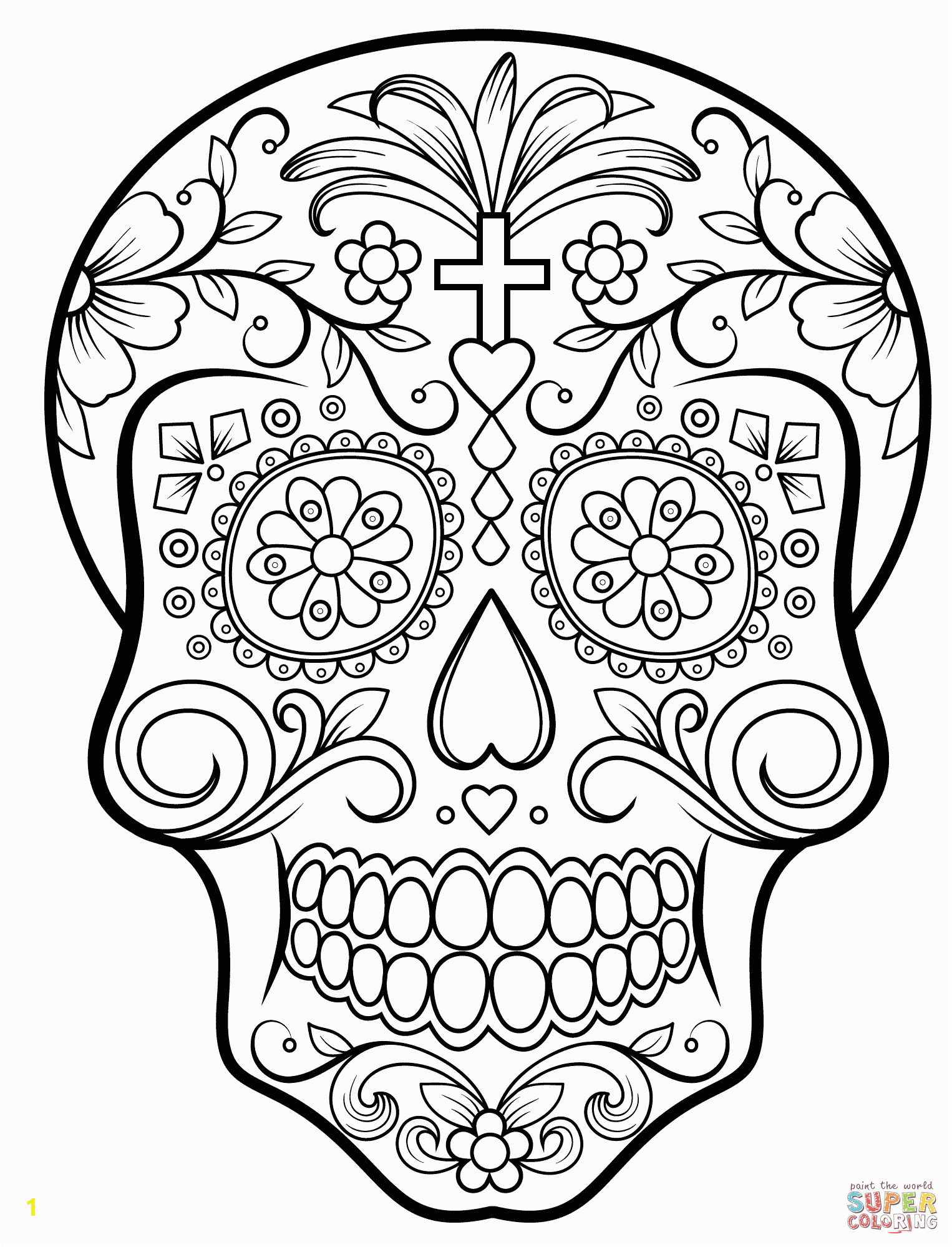 image=dia de los muertos day of the dead Coloring for kids dia de los muertos day of the dead 3667 3
