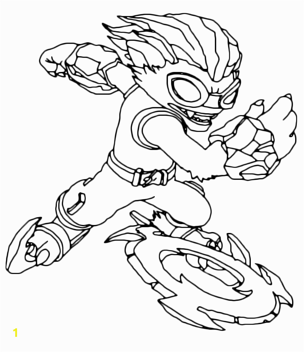 Skylanders Swap force Coloring Pages Freeze Blade Skylanders Swap force Freeze Blade Throws His Weapon