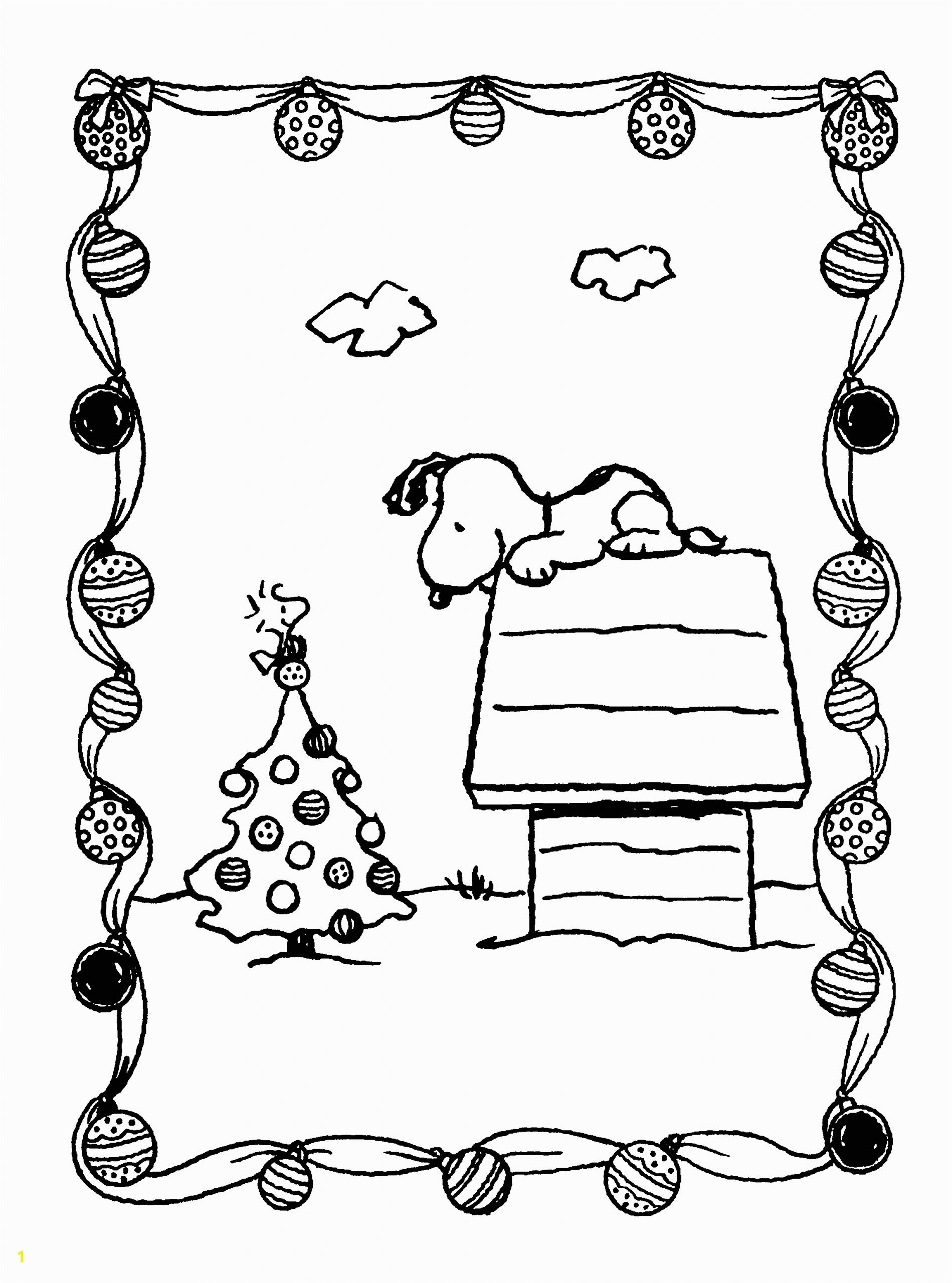 Snoopy and Woodstock Christmas Coloring Pages Peanuts Xmas Coloring and Activity Book