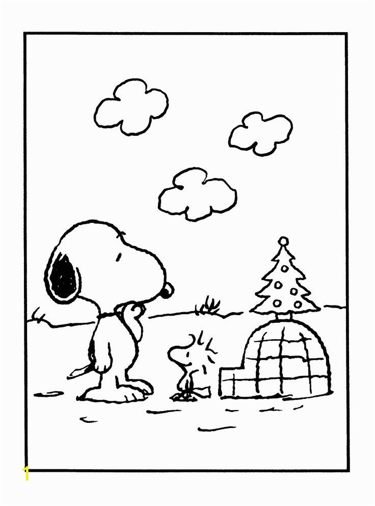 snoopy and woodstock christmas coloring pages