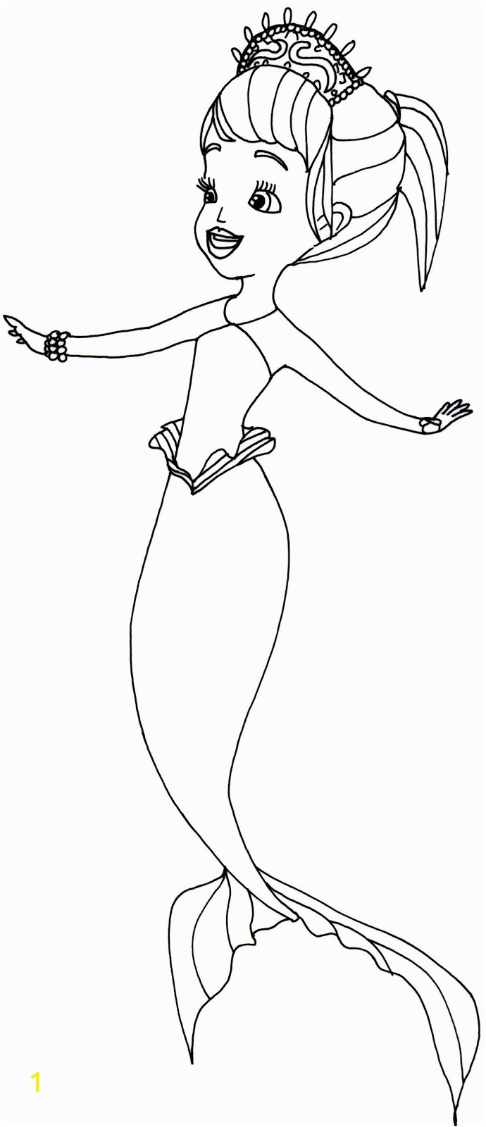 oona sofia first coloring page