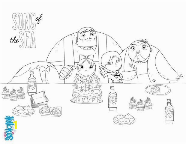 Song Of the Sea Coloring Pages song Of the Sea Birthday Party Coloring Pages Hellokids