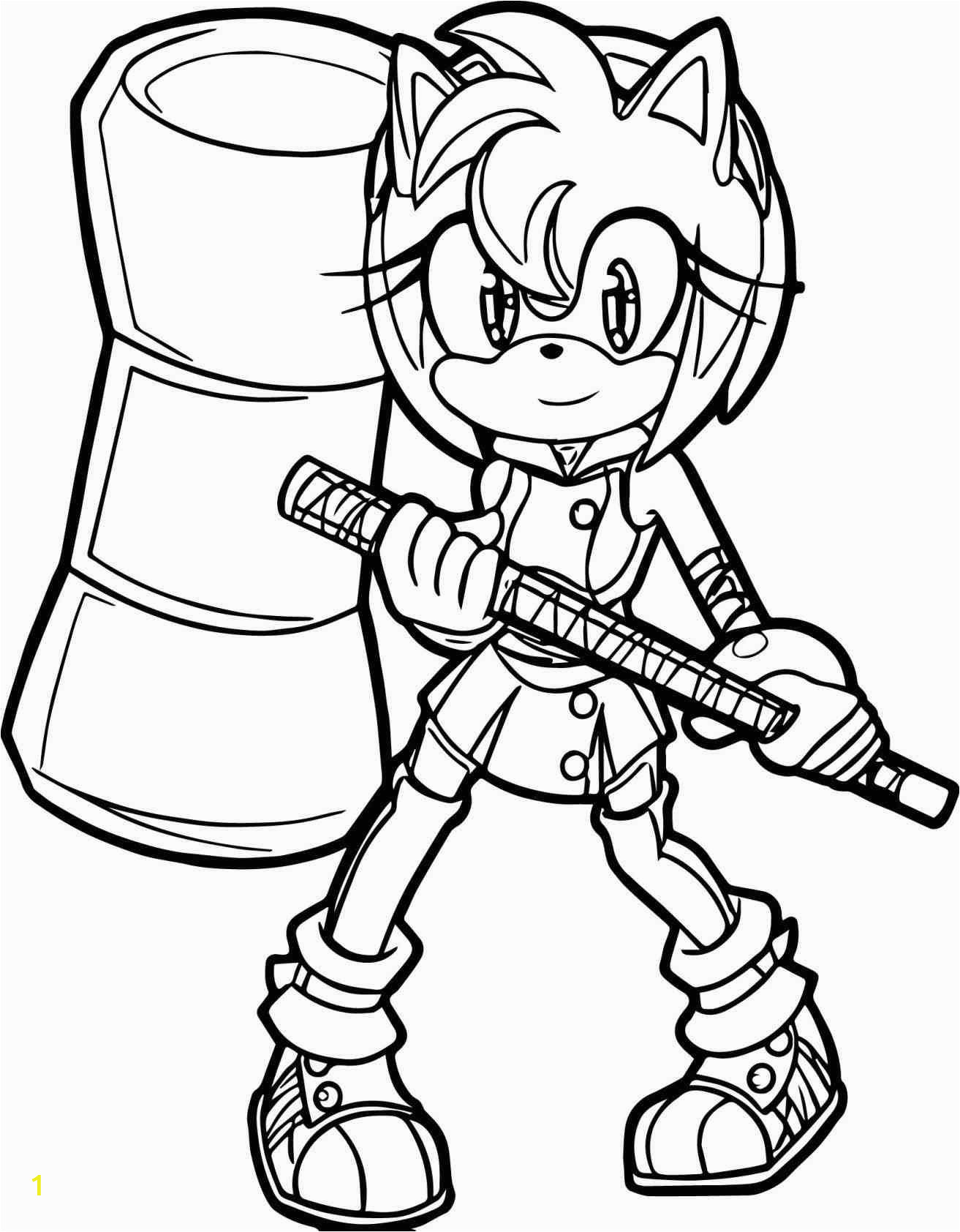 amy sonic coloring pages