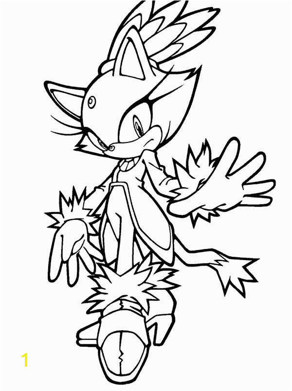 sonic the hedgehog character amy coloring page